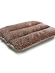 Dog Bed Pet Mats & Pads Soft Brown Beige Cotton