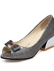 Damen-Sandalen-Kleid-Kunstleder-Blockabsatz-Andere-Schwarz Blau Rosa