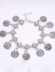 European And American Fashion Retro Exaggerated Coin Tassel Alloy Bracelet
