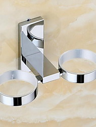 Toothbrush Holders Modern Round Stainless Steel