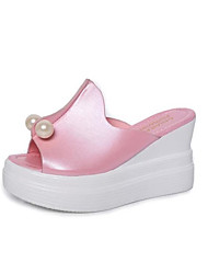 Ms wedge sandals thick bottom fish mouth shoes new han edition sexy joker female high-heeled shoes