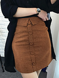 Zeichen Spot 2017 Frühjahr neue koreanische Version des schlanken gestreiften Röcken war dünn Paket Hüfte Rock ein Wort Rock