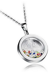 Pendants Crystal Crystal Rhinestone Round Basic Fashion Gold White Jewelry Daily Casual 1pc