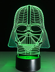 Dark Warrior 7 color 3D LED Night Light All Colors Flash In Turn and gift to friend