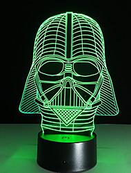 escuro guerreiro 7 cores 3D conduziu a luz da noite todas as cores piscando por sua vez, e um presente para um amigo