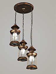 Retro Restaurant Chandelier Bedroom Study Lamps G