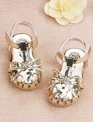 Bébé-Extérieure Décontracté-Or Argent Rose-Talon Bas-Confort Flower Girl Chaussures-Ballerines-Similicuir