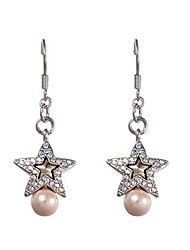 Drop Earrings Crystal Pearl Crystal Fashion As Picture Jewelry Daily Casual 1 pair