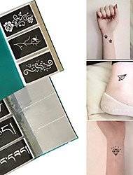 120x Henna Tattoo Stencils Airbrush Stencil Glitter Temporary Tattoo Body Mehndi