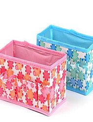 Storage Boxes Storage Units Storage Baskets Makeups Storage Textile withFeature is Lidded  For Jewelry Foldable