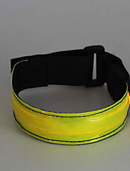 Safety Lights Glow Belt Reflective Wristbands Compact Size for Camping/Hiking/Caving Cycling/Bike Outdoor Climbing-