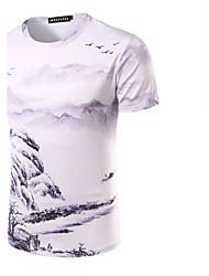 Tee-shirtImprimé Décontracté / Quotidien simple Manches Courtes Coeur Multi-couleur Coton