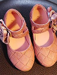Extérieure Habillé Décontracté-Rose Vert Armée-Talon Bas-Flower Girl Chaussures-Ballerines-Similicuir