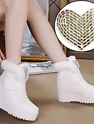The new diamond really rabbit hair snow boots increased female casual boots
