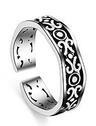 Ring Party Special Occasion Casual Jewelry Silver Plated Hollow Ring 1pcAdjustable Silver