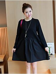 Spring 2017 Women Korean Hitz loose long-sleeved knit dress skirt temperament Girls long paragraph tide