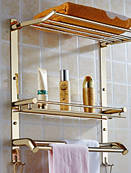 50cm Wall Mount Stainless steel 2 layers Storage Basket shower room Bathroom Towel Rack Soap Dish Shampoo Rack Bathroom Shelves