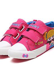 Kids Girls Boys Sneakers Spring Summer Comfort First Walkers Canvas Outdoor Athletic Casual Low Heel Hook & Loop Blue Pink Light Pink Walking
