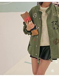 Herbst Größe Frauen Fett Schwester Fett mm war in Europa und Amerika beiläufig lose Briefaufkleber Tuch Jacke Frauen dünne Windjacke