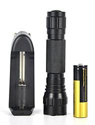 2000lm xm-l t6 conduit 18650 tactique lumière de la lampe torche lampe de poche (full set)