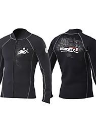 SLINX® Homme 2mm Costumes humides Combinaison de plongée Etanche Respirable Garder au chaud Séchage rapide Pare-ventVelours côtelé Mousse