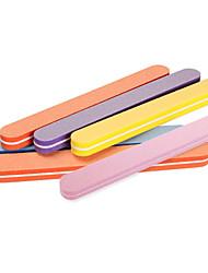5PCS High Quality Nail File Buffer Sanding Washable Manicure Tool Nail Art Polish Sandpaper Strip Bar Set Polishing File Tool