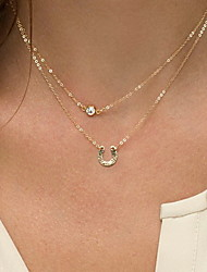 Necklace Non Stone Choker Necklaces Jewelry Daily Casual Others Euramerican Fashion Personalized Alloy 1pc Gift Yellow Gold
