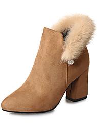 Для женщин Ботинки Удобная обувь Армейские ботинки Полиуретан Осень Зима Повседневные Для праздника Удобная обувь Армейские ботинки Жемчуг