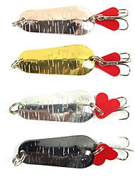 4 pcs Señuelos duros Colores Aleatorios 0.006 g Onza mm pulgada,Metal Pesca en General