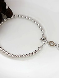Strand Bracelet Sterling Silver Fashion Jewelry Silver Jewelry 1pc
