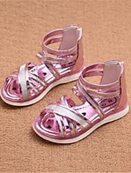 Sandals Comfort PU Outdoor Casual Pink Gold Peach Running