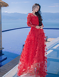 Sign new flower fairy skirt perspective seaside light skirt wedding dress