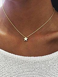 Women's Pendant Necklaces Jewelry Alloy Star Unique Design Dangling Style Multi-ways Wear Gold Silver JewelryBirthday Engagement Daily