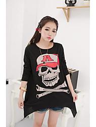 quando as mulheres coreanas solta grandes estaleiros longa seção de crânio oco tornando camisetas modelo de tiro real