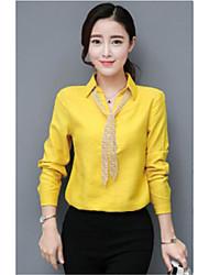 2017 Frühjahr neue Blusen schlank war dünn koreanische Frauen Art und Weise wildes Temperament V-Neck T-Shirt