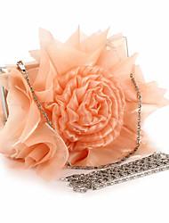 Women Chiffon Flower Formal Event/Party Wedding Shoulder Bag Clutch