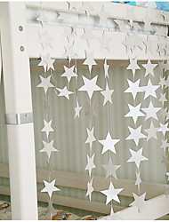 raylinedo® 1 шт 4 метра серебряная бумага гирлянда для свадьбы летию со дня рождения рождественской вечеринки девушки украшения комнаты