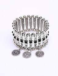 Bohemia Retro Bracelet Bungee Cord Alloy Beads Coin Tassel Bracelet