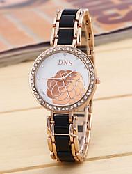 Relógio de Moda Quartzo Lega Banda Dourada