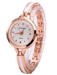 Women's Dress Watch Bracelet Watch Wrist watch Quartz Imitation Diamond Rhinestone Alloy Band Charm Gold Strap Watch