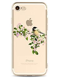 Pour Motif Coque Coque Arrière Coque Fleur Flexible PUT pour Apple iPhone 7 Plus iPhone 7 iPhone 6s Plus/6 Plus iPhone 6s/6