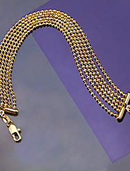 18k Gold-plated Fashion luxury Jewelry Six Lines Light Beads Adjustable Chain Bracelets Bangles