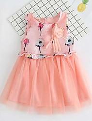Girl's Beach Floral Print Dress,Cotton Rayon Summer Sleeveless