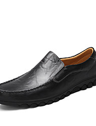 Men's Loafers & Slip-Ons Summer Fall Light Soles Cowhide Office & Career Casual Low Heel Walking