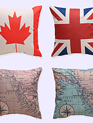 1 pcs Europe And The United States Personalized High-End Skull Print Brocade Linen Pillow CaseNovelty Modern/Contemporary Casual