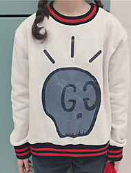 Sign cute bulb skull printed cashmere sweater