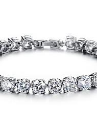 Chain Bracelet Crystal Simulated Diamond Alloy Fashion Luxury Jewelry Jewelry White Rainbow Green Jewelry 1pc