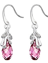 Drop Earrings Crystal Crystal Fashion Candy Pink Jewelry Daily Casual 1 pair