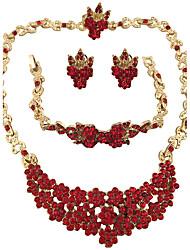 Bijoux 1 Collier 1 Paire de Boucles d'Oreille 1 Bracelet 1 Bague Bague Boucles d'oreilles Collier / Bracelet Cristal StrassCirculaire