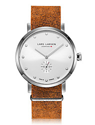 Men's Fashion Watch Japanese Quartz Stopwatch Quartz Genuine Leather Band Vintage Casual Brown